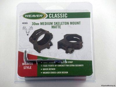 Weaver Montageringe 30mm